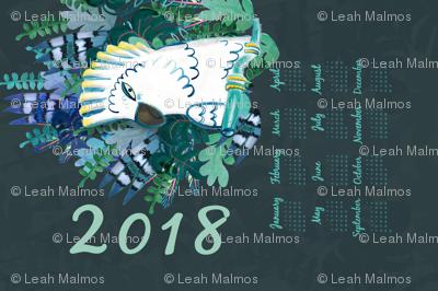jungle 2018 tea towel calendar