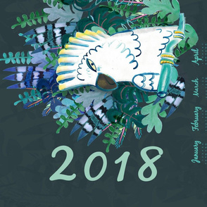 jungle 2018 tea towel calendar