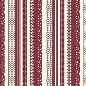 Willow-esque Stripes - Red