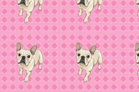french_bulldog_pink fabric by mollyyang on Spoonflower - custom fabric