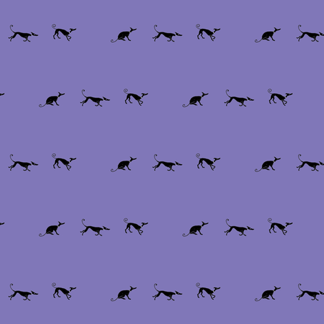 Sociable_Hounds_In_Lavender -ForLeads fabric by cloudsong_art on Spoonflower - custom fabric