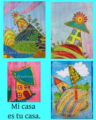 Mi Casa tea towel