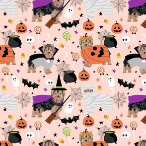 Yorkshire Terrier yorkie halloween costumes cute dog fabric fall autumn pink