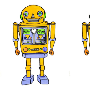 Large yellow robot