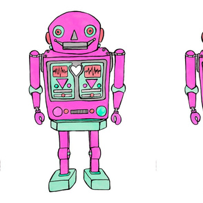large pink robot