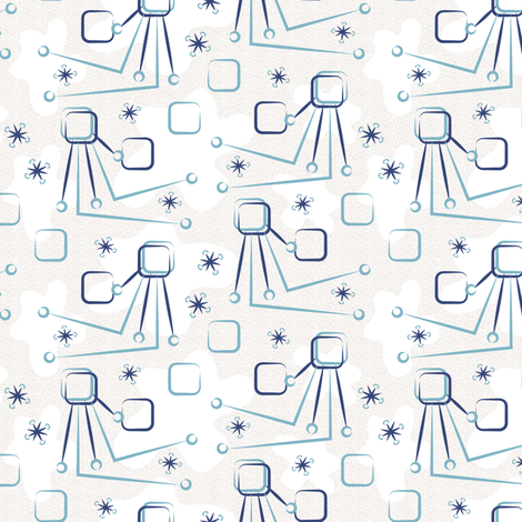 Mid Century Modern Inspired TV Amoeba 3 fabric by eclectic_house on Spoonflower - custom fabric