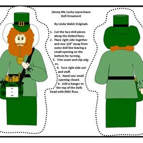 Jimmy Me Lucky Leprechaun Cut and Sew Doll