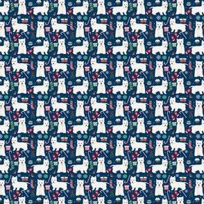 westie chrsitmas fabric cute west highland terrier fabrics cute christmas dogs cute fabrics - Extra Tiny Print