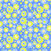 happy lime & blue dots