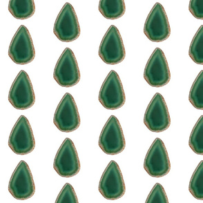 Agates in Green