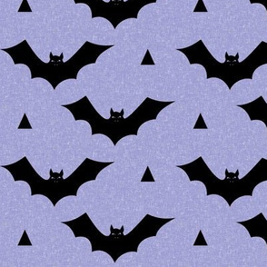 bat linen purple design