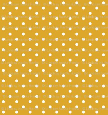 Mustard Polka Dots