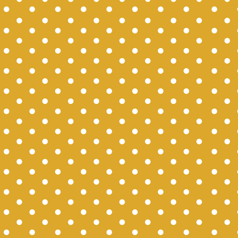Mustard Polka Dots fabric by twodreamsshop on Spoonflower - custom fabric