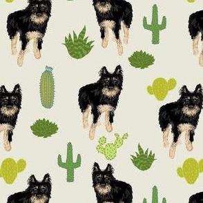 custom dog and cactus fabric