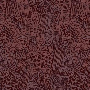 prune mauve batik