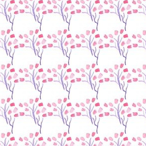 Pink Purple Watercolor floral