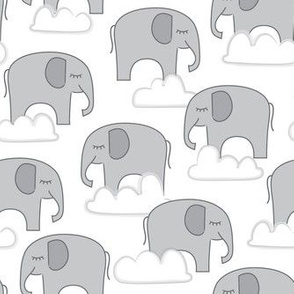 grey elephants-and-clouds