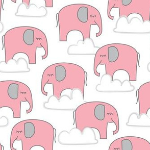 pink elephants-and-clouds