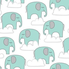 blue elephants-and-clouds