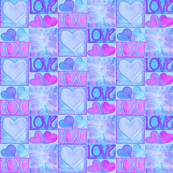 XOXO Love Blocks in Blues and Magenta