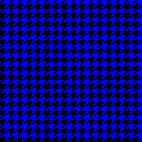 Half Inch Blue and Black Houndstooth Check fabric by mtothefifthpower on Spoonflower - custom fabric