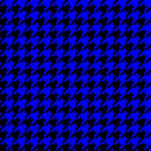 Half Inch Blue and Black Houndstooth Check