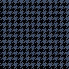 Half Inch Blue Jeans Blue and Black Houndstooth Check