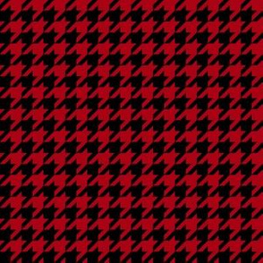 Half Inch Dark Red and Black Houndstooth Check