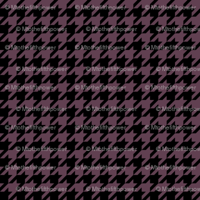 Half Inch Eggplant Purple and Black Houndstooth Check