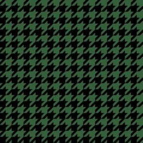 Half Inch Hunter Green and Black Houndstooth Check