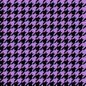 Half Inch Lavender Purple and Black Houndstooth Check