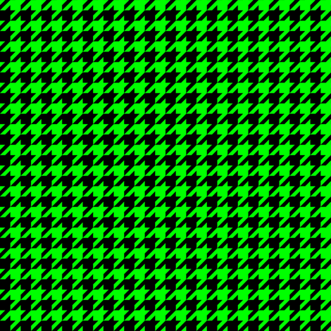 Half Inch Lime Green and Black Houndstooth Check fabric by mtothefifthpower on Spoonflower - custom fabric