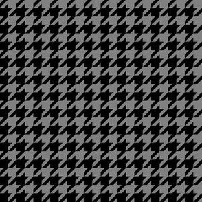 Half Inch Medium Gray and Black Houndstooth Check
