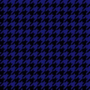 Half Inch Midnight Blue and Black Houndstooth Check