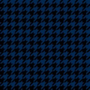 Half Inch Navy Blue and Black Houndstooth Check