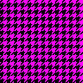 Half Inch Pink and Black Houndstooth Check
