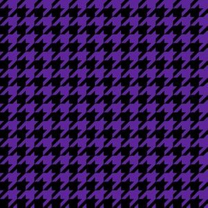 Half Inch Purple and Black Houndstooth Check