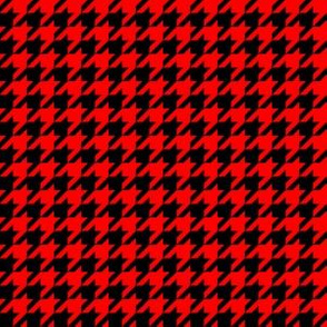 Half Inch Red and Black Houndstooth Check