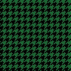 Half Inch Spruce Green and Black Houndstooth Check