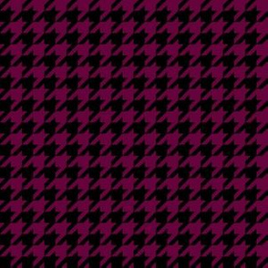 Half Inch Tyrian Purple and Black Houndstooth Check
