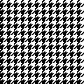 Half Inch Black and White Houndstooth Check