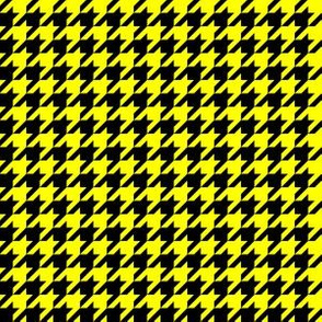 Half Inch Yellow and Black Houndstooth Check