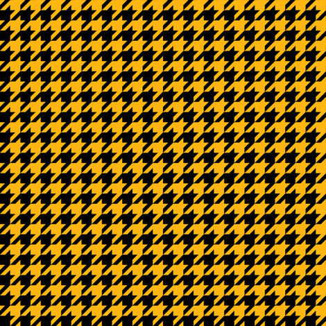 Half Inch Yellow Gold and Black Houndstooth Check fabric by mtothefifthpower on Spoonflower - custom fabric