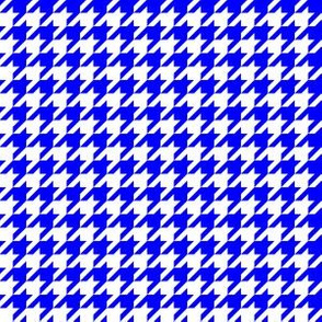 Half Inch Blue and White Houndstooth Check