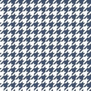 Half Inch Blue Jeans Blue and White Houndstooth Check