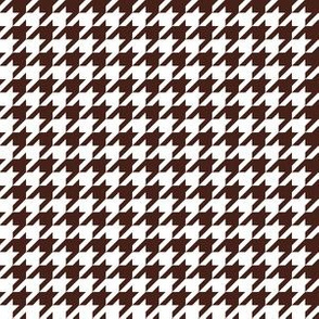 Half Inch Brown and White Houndstooth Check