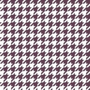 Half Inch Eggplant Purple and White Houndstooth Check