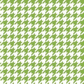 Half Inch Greenery Green and White Houndstooth Check