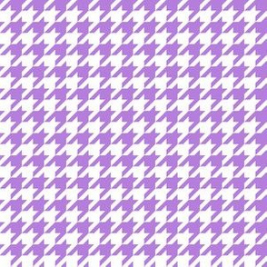 Half Inch Lavender Purple and White Houndstooth Check