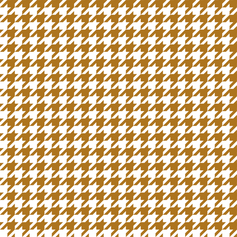 Half Inch Matte Antique Gold and White Houndstooth Check fabric by mtothefifthpower on Spoonflower - custom fabric